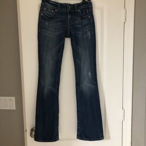 Miss Me Chain Distressed Bootcut Jeans Size 28